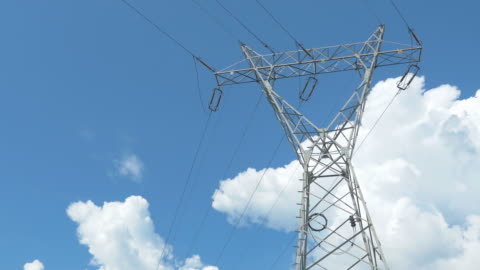 time lapse video of electric pole in 4k - high voltage sign stock videos & royalty-free footage