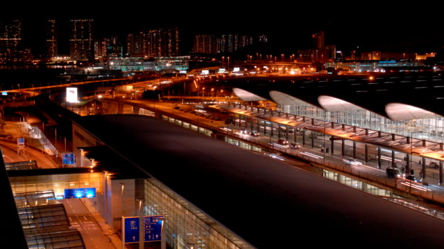 time lapse video of hong kong international airport (hd 1080) - hong kong international airport stock videos and b-roll footage
