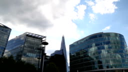 Time Lapse Video Of London Business District And Shard Tower