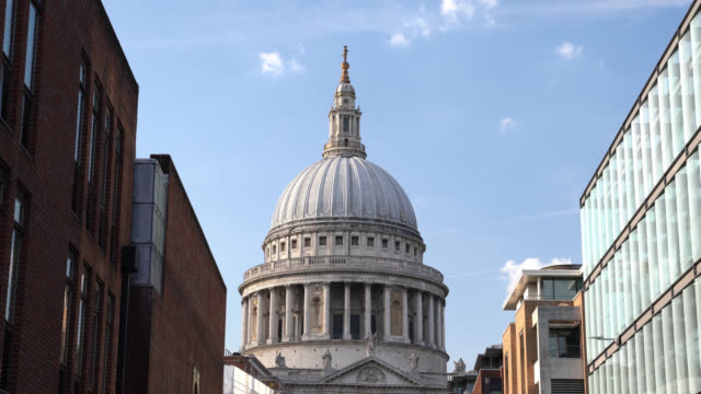 UHD Time Lapse Video Of St Paul's Cathedral Of London In Summer Time