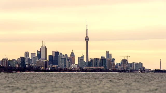 time lapse video of the skyline in toronto - toronto stock-videos und b-roll-filmmaterial