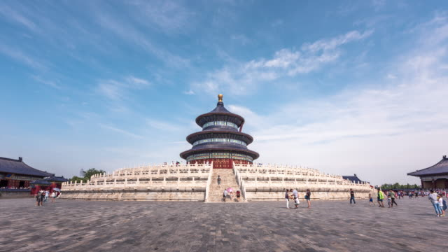 time lapse video of the temple of heaven - temple of heaven stock videos & royalty-free footage