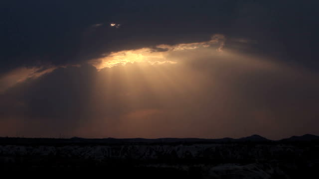 time lapse video of valley in cappadocia in dusk - selimaksan stock videos & royalty-free footage