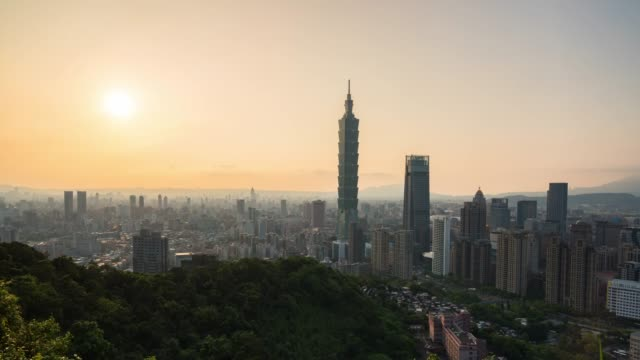 4k  time lapse : view cityscape of central  downtown in taipei, taiwan - taiwan stock videos & royalty-free footage