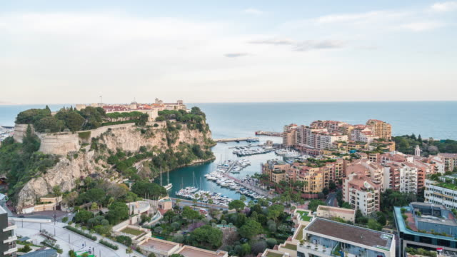 4k time lapse : view in harbor of monaco - monaco stock videos and b-roll footage