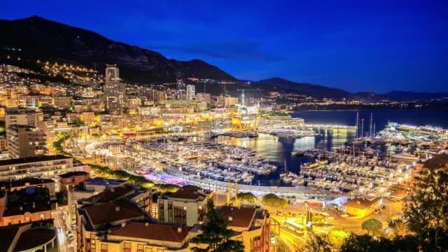 4K Time Lapse : View in harbor of Monaco