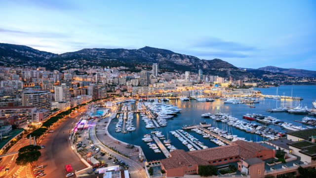 4k time lapse : view in harbor of monaco - monte carlo stock videos & royalty-free footage