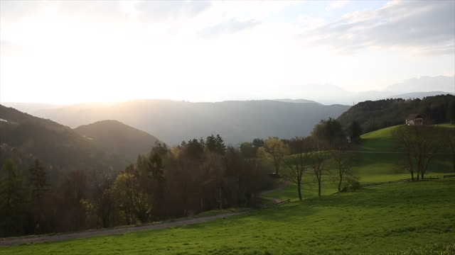 time lapse view of alpine meadow scene, sunrise - hope stock videos & royalty-free footage