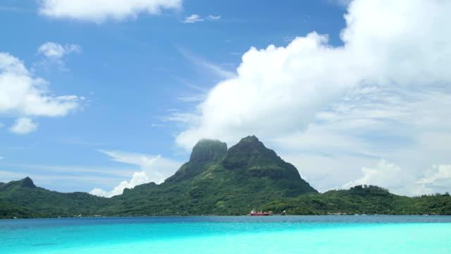 time lapse view of aquamarine lagoon bora bora - french overseas territory stock videos & royalty-free footage