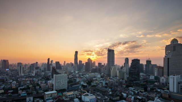 Effet Time-lapse vue de Bangkok au lever du soleil