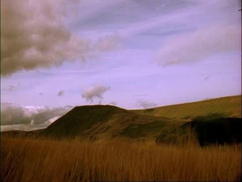 WA time lapse view of clouds and shadows moving across hills and sky, Brecon Beacons, Wales