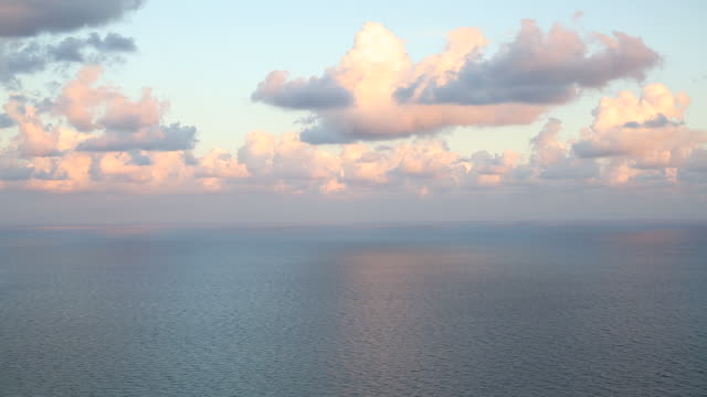 Time lapse view of clouds passing overhead Mediterranean Sea