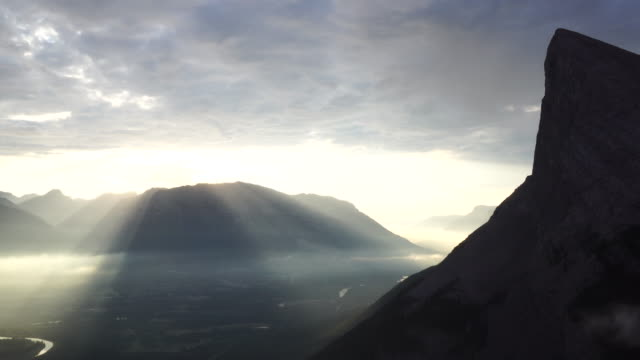 time lapse view of clouds passing overhead mountains - steep stock videos & royalty-free footage