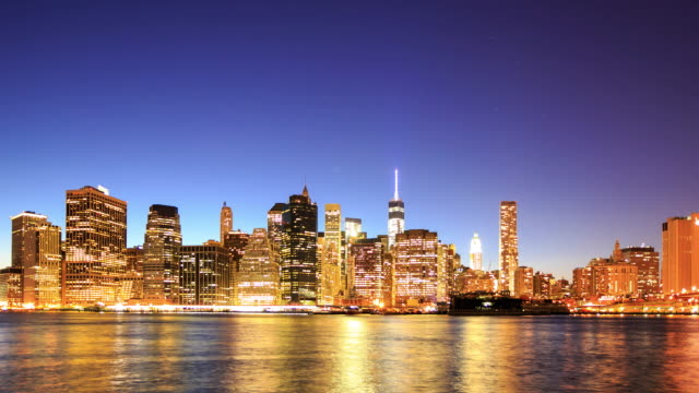 Time Lapse 4 K: vista di Manhattan