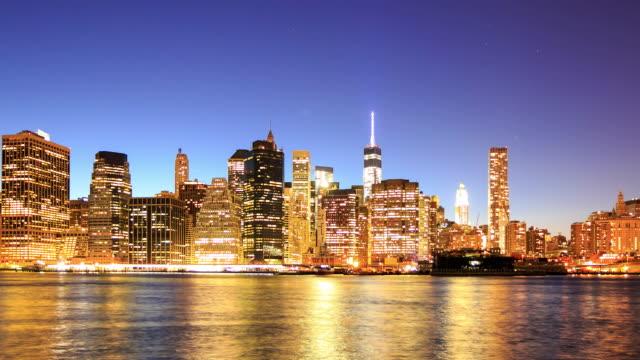 4 K time-lapse: uitzicht op Manhattan