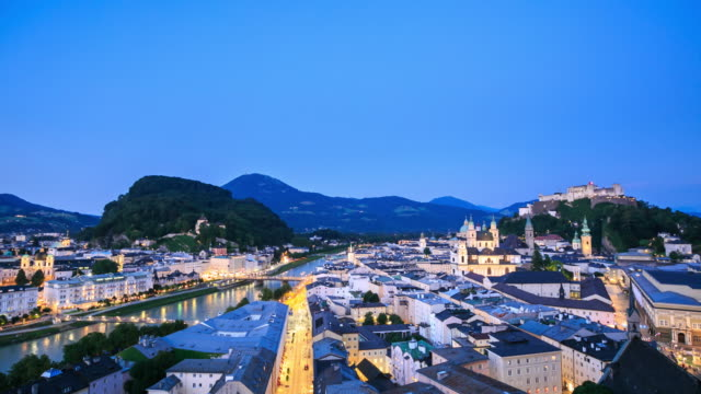 4k time lapse : view of salzburg - traditionally austrian stock videos & royalty-free footage