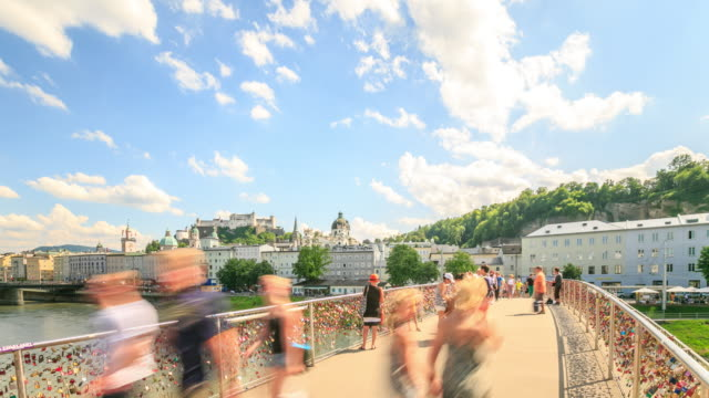 4K Time Lapse : view of Salzburg