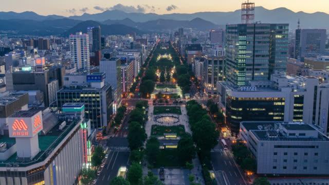 札幌市のタイムラプスビュー - 町並み点の映像素材/bロール