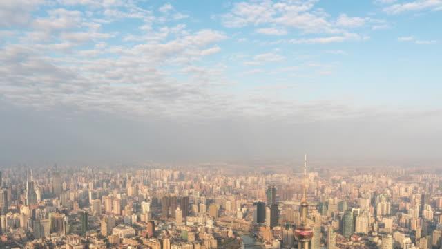 Tijd Lapse weergave van Shanghai in de ochtend, China