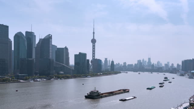 Zeitraffer Blick auf Shanghai Skyline/Shanghai, China