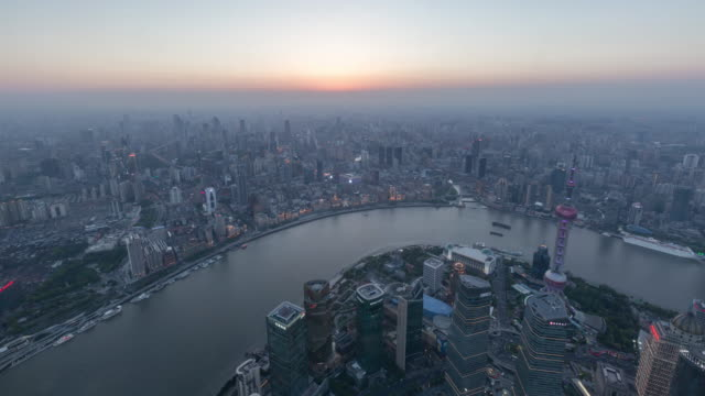 time lapse view of shanghai skyline,day to night / shanghai, china - jin mao tower stock videos & royalty-free footage
