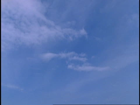 wa time lapse view of wispy clouds moving around in blue sky, western ghats, india - wispy stock videos & royalty-free footage