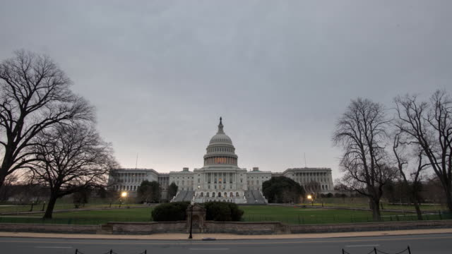 Time Lapse views of the Capital Building in Washington DC USA on Tuesday February 27 2018