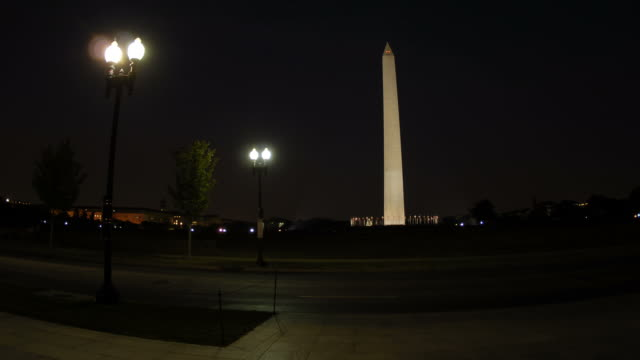 time lapse washington monument night (1080/24p) - george washington stock videos and b-roll footage