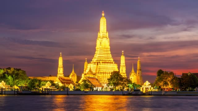 time lapse wat arun - bangkok stock videos & royalty-free footage
