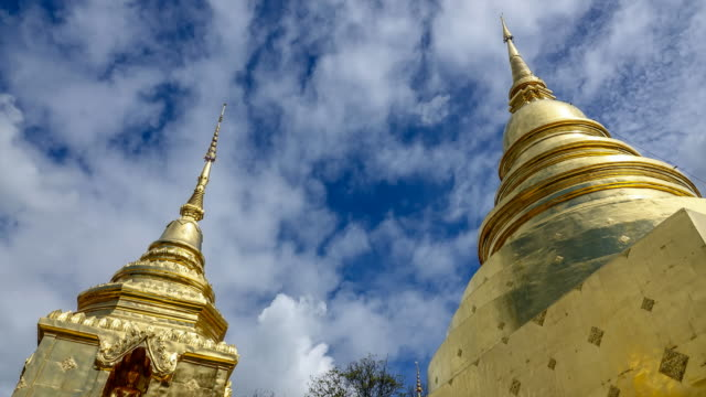 Time lapse : Wat Phrasing Temple in Chiang Mai, Thailand