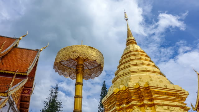 Time lapse : Wat Phrathat Doi Suthep Temple in Chiang Mai Thailand