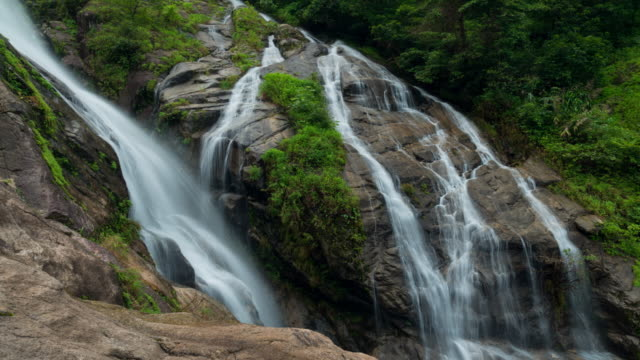 Time Lapse : Waterfall in tropical rainforest, Thailand