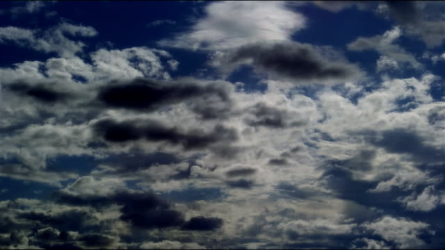 time lapse wide shot clouds moving across sky as sunlight emerges/ canada - moving past stock videos & royalty-free footage