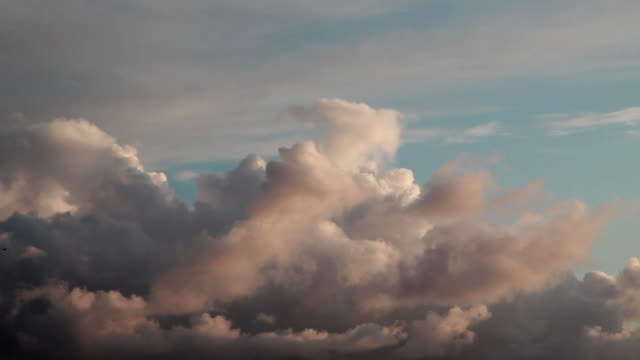 time lapse wide shot of clouds passing - 1 minute or greater stock videos & royalty-free footage