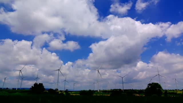 tijd lapse wind turbine en cloud hemel 4K video
