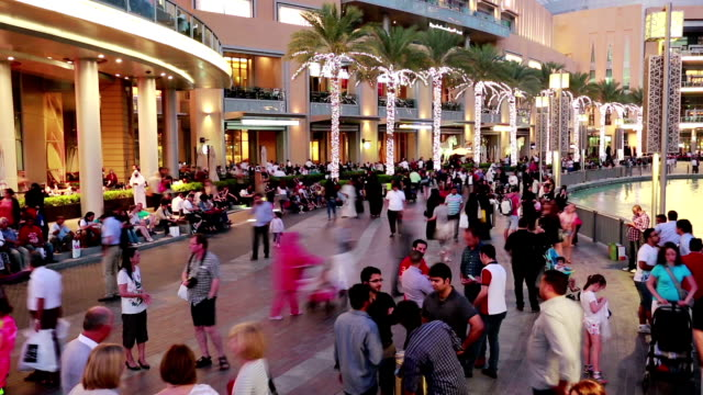 time lapse with crowd outdoors - dubai stock videos & royalty-free footage