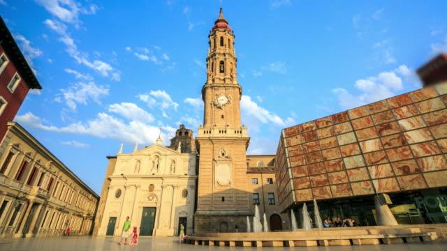 4K Time Lapse : Zaragoza Cathedral, Spain