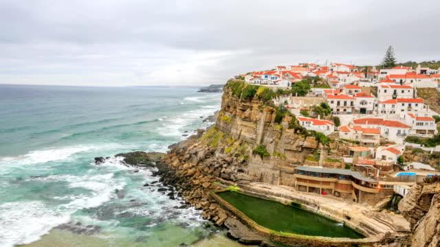 time lapse:azenhas do mar village, sintra portugal - mar stock videos & royalty-free footage