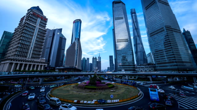vídeos de stock, filmes e b-roll de intervalo de tempo-belo horizonte de xangai pudong em xangai, china - rotunda arquitetura