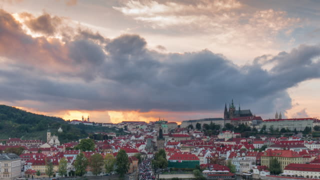 time lapse-Cityscape of Prague