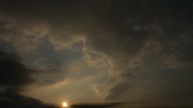 Time lapsed view of the sun behind clouds