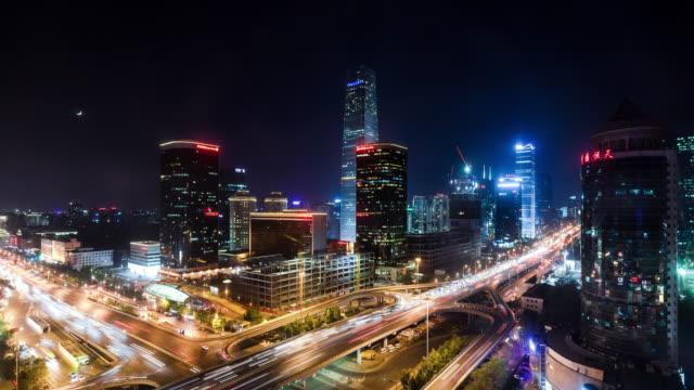 Zeitraffer-erhöhte Zeitansicht Beijing Skyline