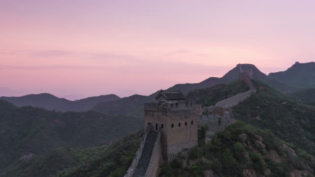 time lapse-jinshanling great wall - great wall of china stock videos & royalty-free footage