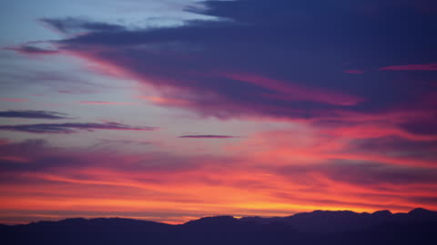 time lapse-multi colored sunset - sunset stock-videos und b-roll-filmmaterial
