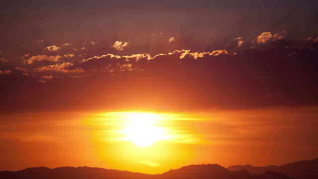 time lapse-orange sunset - sunset stock videos & royalty-free footage