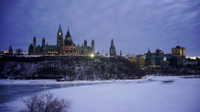 time lapse:ottawa parliament hill - ottawa stock videos and b-roll footage