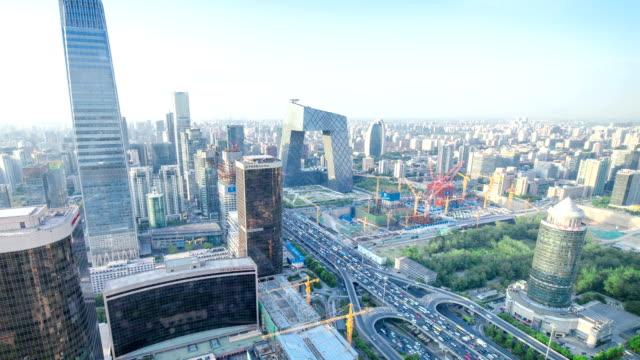 time lapse-panorama of Beijing