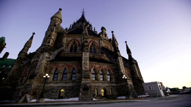 time lapse:parliament hill in ottawa - parliament hill stock videos & royalty-free footage