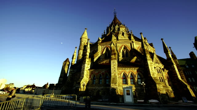 time lapse:parliament hill in ottawa - parliament hill stock videos and b-roll footage