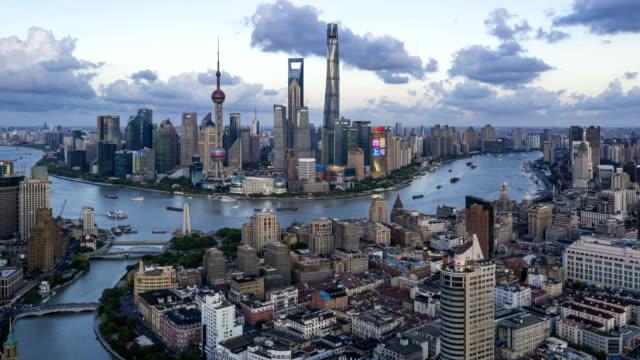 4k time lapse-shanghai bund night - river huangpu stock videos & royalty-free footage